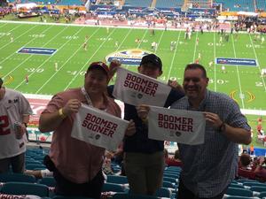 Hock attended 2018 Capital One Orange Bowl - Oklahoma Sooners vs. Alabama Crimson Tide - College Football Playoffs Semifinal Game on Dec 29th 2018 via VetTix