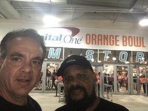 Miguel attended 2018 Capital One Orange Bowl - Oklahoma Sooners vs. Alabama Crimson Tide - College Football Playoffs Semifinal Game on Dec 29th 2018 via VetTix