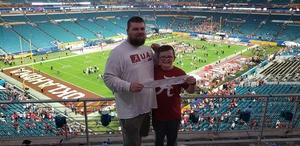 Christopher attended 2018 Capital One Orange Bowl - Oklahoma Sooners vs. Alabama Crimson Tide - College Football Playoffs Semifinal Game on Dec 29th 2018 via VetTix