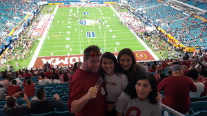 Mark attended 2018 Capital One Orange Bowl - Oklahoma Sooners vs. Alabama Crimson Tide - College Football Playoffs Semifinal Game on Dec 29th 2018 via VetTix