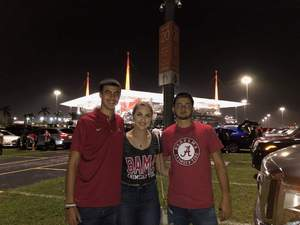 Nicholas attended 2018 Capital One Orange Bowl - Oklahoma Sooners vs. Alabama Crimson Tide - College Football Playoffs Semifinal Game on Dec 29th 2018 via VetTix