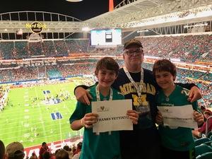 Richard attended 2018 Capital One Orange Bowl - Oklahoma Sooners vs. Alabama Crimson Tide - College Football Playoffs Semifinal Game on Dec 29th 2018 via VetTix