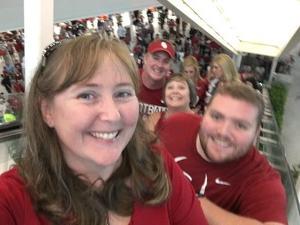 Kristi attended 2018 Capital One Orange Bowl - Oklahoma Sooners vs. Alabama Crimson Tide - College Football Playoffs Semifinal Game on Dec 29th 2018 via VetTix