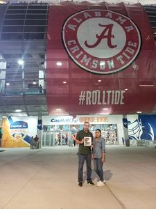 William attended 2018 Capital One Orange Bowl - Oklahoma Sooners vs. Alabama Crimson Tide - College Football Playoffs Semifinal Game on Dec 29th 2018 via VetTix