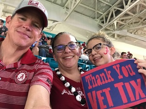 Anthony attended 2018 Capital One Orange Bowl - Oklahoma Sooners vs. Alabama Crimson Tide - College Football Playoffs Semifinal Game on Dec 29th 2018 via VetTix