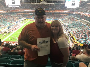 Paul attended 2018 Capital One Orange Bowl - Oklahoma Sooners vs. Alabama Crimson Tide - College Football Playoffs Semifinal Game on Dec 29th 2018 via VetTix