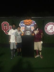 De Forrest attended 2018 Capital One Orange Bowl - Oklahoma Sooners vs. Alabama Crimson Tide - College Football Playoffs Semifinal Game on Dec 29th 2018 via VetTix