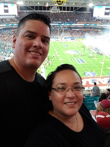 gilberto attended 2018 Capital One Orange Bowl - Oklahoma Sooners vs. Alabama Crimson Tide - College Football Playoffs Semifinal Game on Dec 29th 2018 via VetTix