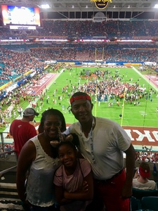 Karriem attended 2018 Capital One Orange Bowl - Oklahoma Sooners vs. Alabama Crimson Tide - College Football Playoffs Semifinal Game on Dec 29th 2018 via VetTix