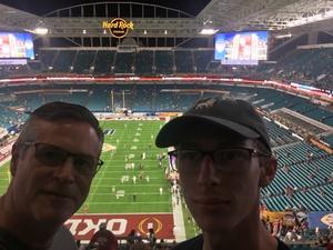 Jimmy attended 2018 Capital One Orange Bowl - Oklahoma Sooners vs. Alabama Crimson Tide - College Football Playoffs Semifinal Game on Dec 29th 2018 via VetTix