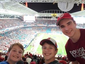 Daniel attended 2018 Capital One Orange Bowl - Oklahoma Sooners vs. Alabama Crimson Tide - College Football Playoffs Semifinal Game on Dec 29th 2018 via VetTix