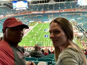 Tony attended 2018 Capital One Orange Bowl - Oklahoma Sooners vs. Alabama Crimson Tide - College Football Playoffs Semifinal Game on Dec 29th 2018 via VetTix