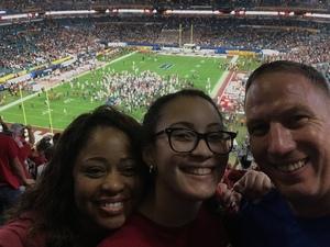 Joseph attended 2018 Capital One Orange Bowl - Oklahoma Sooners vs. Alabama Crimson Tide - College Football Playoffs Semifinal Game on Dec 29th 2018 via VetTix