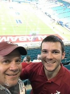 Randal attended 2018 Capital One Orange Bowl - Oklahoma Sooners vs. Alabama Crimson Tide - College Football Playoffs Semifinal Game on Dec 29th 2018 via VetTix