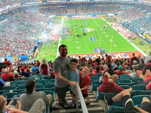 Evan attended 2018 Capital One Orange Bowl - Oklahoma Sooners vs. Alabama Crimson Tide - College Football Playoffs Semifinal Game on Dec 29th 2018 via VetTix