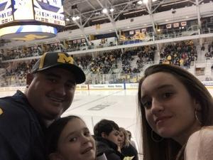 Adrian attended University of Michigan Wolverines vs. Merrimack Warriors - NCAA Men's Hockey on Jan 8th 2019 via VetTix