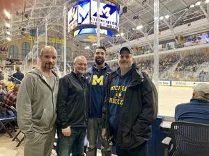 Marcus attended University of Michigan Wolverines vs. Merrimack Warriors - NCAA Men's Hockey on Jan 8th 2019 via VetTix
