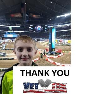 Jonathan attended Monster Energy Supercross - Motorsports/racing on Feb 9th 2019 via VetTix