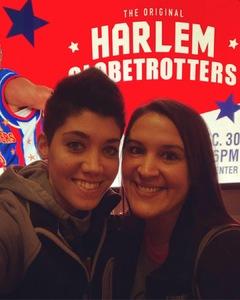 Melissa attended Harlem Globetrotters on Dec 30th 2018 via VetTix