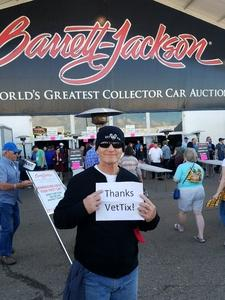 Click To Read More Feedback from 48th Annual Barrett-jackson Auction Company - Scottsdale 2019 - Tickets Good for Friday Only