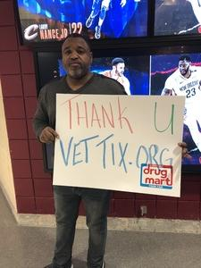 Brian attended Cleveland Cavaliers vs. New Orleans Pelicans - NBA on Jan 5th 2019 via VetTix