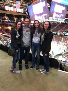 Katelyn attended Cleveland Cavaliers vs. New Orleans Pelicans - NBA on Jan 5th 2019 via VetTix