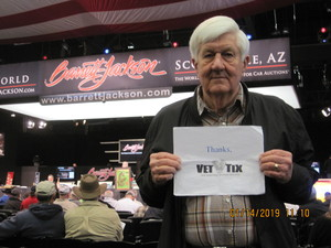 Thomas attended 2019 Barrett Jackson - Collector Car Auction - 1 Ticket is Good for 2 People on Jan 14th 2019 via VetTix