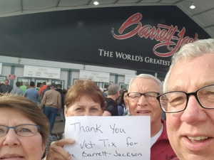 Richard attended 2019 Barrett Jackson - Collector Car Auction - 1 Ticket is Good for 2 People on Jan 14th 2019 via VetTix