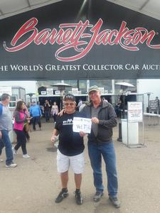 Paul Thorhauer USAF attended 2019 Barrett Jackson - Collector Car Auction - 1 Ticket is Good for 2 People on Jan 14th 2019 via VetTix