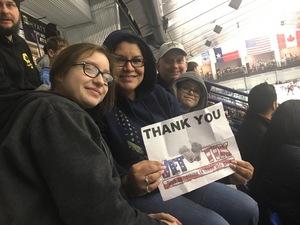 America attended Lone Star Brahmas vs. Topeka Pilots - NAHL on Jan 11th 2019 via VetTix