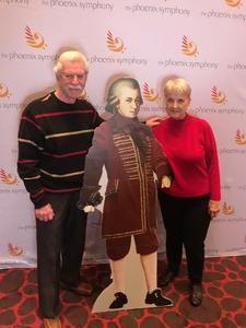 Ronald attended Phoenix Symphony - a Mozart Celebration - 2 PM Matinee on Jan 6th 2019 via VetTix