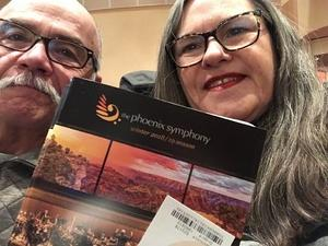 Richard attended Phoenix Symphony - a Mozart Celebration - 2 PM Matinee on Jan 6th 2019 via VetTix