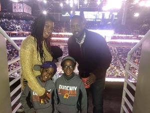 Torane attended Phoenix Suns vs. Philadelphia 76ers - NBA on Jan 2nd 2019 via VetTix