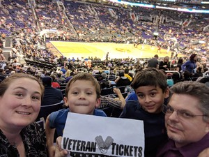David  V attended Phoenix Suns vs. LA Clippers - NBA on Jan 4th 2019 via VetTix