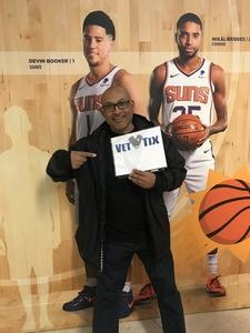 William attended Phoenix Suns vs. LA Clippers - NBA on Jan 4th 2019 via VetTix