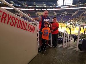 Luis attended Phoenix Suns vs. LA Clippers - NBA on Jan 4th 2019 via VetTix