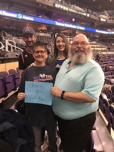 Trevor attended Phoenix Suns vs. LA Clippers - NBA on Jan 4th 2019 via VetTix