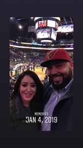 Peter attended Phoenix Suns vs. LA Clippers - NBA on Jan 4th 2019 via VetTix