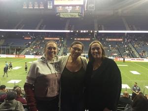 Emma attended Ontario Fury vs. Tacoma - Mals on Jan 20th 2019 via VetTix