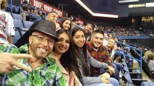 Adan attended Ontario Fury vs. Tacoma - Mals on Jan 20th 2019 via VetTix