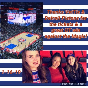 Jean attended Detroit Pistons vs. Orlando Magic - NBA on Jan 16th 2019 via VetTix