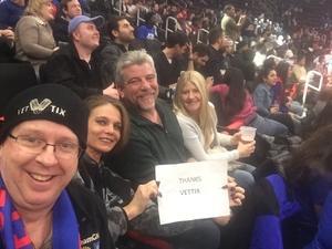 Daniel attended Detroit Pistons vs. Orlando Magic - NBA on Jan 16th 2019 via VetTix