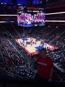 Catherine attended Detroit Pistons vs. Orlando Magic - NBA on Jan 16th 2019 via VetTix