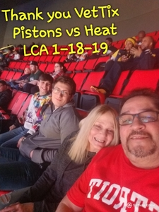 Jaime attended Detroit Pistons vs. Miami Heat - NBA on Jan 18th 2019 via VetTix