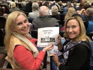 Ward & family attended Jay Leno Live In Concert on Jan 5th 2019 via VetTix