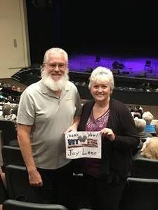 John attended Jay Leno Live In Concert on Jan 5th 2019 via VetTix