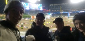 Patrick attended Monster Energy Supercross on Jan 5th 2019 via VetTix