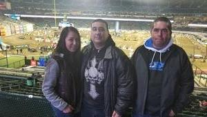 Juan Carlos attended Monster Energy Supercross on Jan 5th 2019 via VetTix
