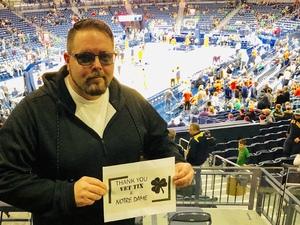 Jesse attended Notre Dame Fighting Irish vs. Syracuse - NCAA Men's Basketball on Jan 5th 2019 via VetTix