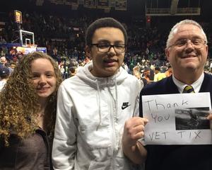 John attended Notre Dame Fighting Irish vs. Syracuse - NCAA Men's Basketball on Jan 5th 2019 via VetTix